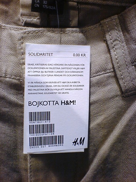 Alternative H&M Price Tag in Sweden